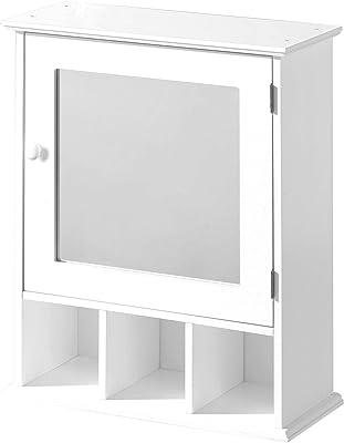 Premier Housewares 2401451 Armoire de Toilette en Bois Blanc