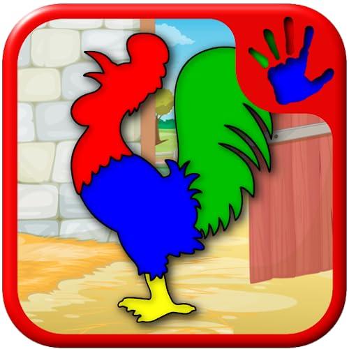 Kinder-Bauernhof & Tier-Jigsaw Puzzle-Formen - Bildung junger Kinder Spiel lehrt passenden Fähigkeiten geeignet für Kleinkind und Vorschulalter jungen und Mädchen 2 +