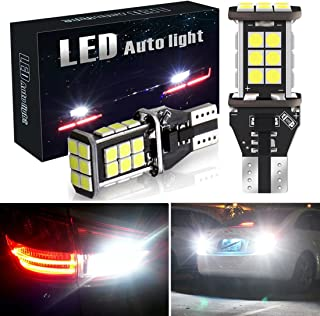 Botepon 1600 Lumens Extremely Bright 921 912 T15 Led Backup Lights Bulb, Error Free 3030