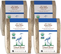 product image for Great River Organic Milling, Bread Flour, Whole Wheat , Stone Ground, Organic, 5-Pounds (Pack of 4)