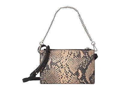 AllSaints Fetch Chain Wallet (Snake Pink) Wallet Handbags