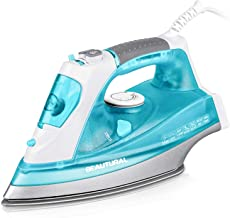 BEAUTURAL 1800 Watt Steam Iron for Clothes with Precision Thermostat Dial, Double Layered and Ceramic Coated Soleplate, 3-...