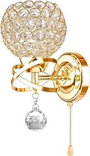 Moderne Cristal Applique Murale LED Lampe Decorative Carré Luminaire Intérieur Ideal pour Décor Vitrine/Couloir Chambre/Es...