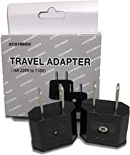 Ecotrees Travel Adapter and converter 220v to 110v Travel Adapter SET OF 2 / 220 to 110 Travel Adapter (EU & Korea to USA) SET OF 2