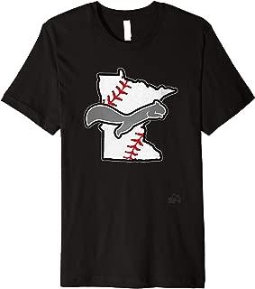Minnesota Baseball Squirrel Premium T-Shirt