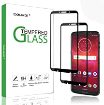 (2 Pack) Beukei for Motorola Moto Z3 / Moto Z3 Play Screen Protector Tempered Glass, Glass with 9H Hardness, with Lifetime Replacement Warranty