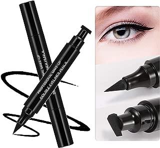 Boobeen Eyeliner Stamp - 4 Styles Waterproof Winged Eyeliner Pencil Stamp - 2 in 1 Dual End Black Eyeliners Make Up Pens - Perfect Cat Eye Vamp - Long Lasting Natural Smooth Liquid Eye Liner Pen