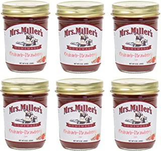 Mrs. Miller's Homemade Jam, Rhubarb-Strawberry, 9 OZ (Pack of 6)