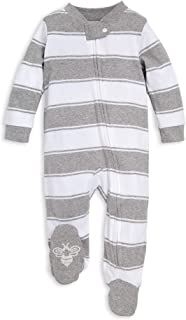 Burt`s Bees Baby Baby Girls` Sleep & Play, Organic One-Piece Romper-Jumpsuit Pj, Zip Front Footed Pajama