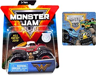 Monster Jam 2019 Spin Master Wonder Woman & One Sticker (Styles Vary) 2 Items Bundle