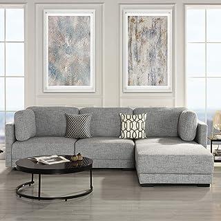 Amazon.com: Grey - Sofas & Couches / Living Room Furniture ...