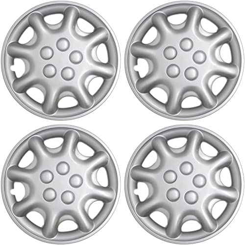 high quality OxGord 16 inch Hubcaps Best for 97-00 Chrysler Sebring - outlet online sale (Set of 4) Wheel Covers 16in Hub Caps Silver Rim Cover - Car Accessories for online 16 inch Wheels - Snap On Hubcap Auto Tire Replacement Exterior Cap outlet sale