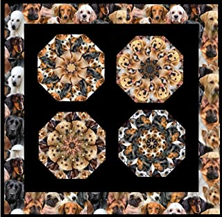 DOG BREEDS Mini Kaleidoscope Stack N Whack Quilt Kit Pre Cut Kit