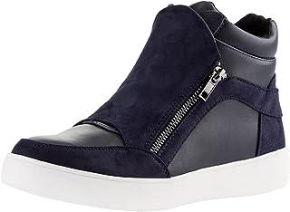 3adfe1a937f0d oodji Ultra Femme Chaussures Montantes avec Fermeture Éclair et Finition en  Suédine