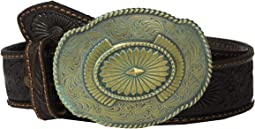 Nocona Embossed Belt w/ Oval Patina Buckle