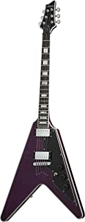 Schecter 654 V-1 Custom Solid-Body Electric Guitar, TPUR