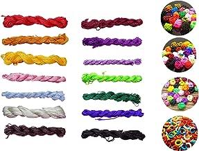 1mm Satin Nylon Trim Cord,14 Bundles 378 Yards Assorted Colors Nylon String for Beading String