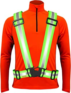 Tuvizo Reflective Safety Vest for Running or Cycling - Comfortable Reflective Gear for High Visibility