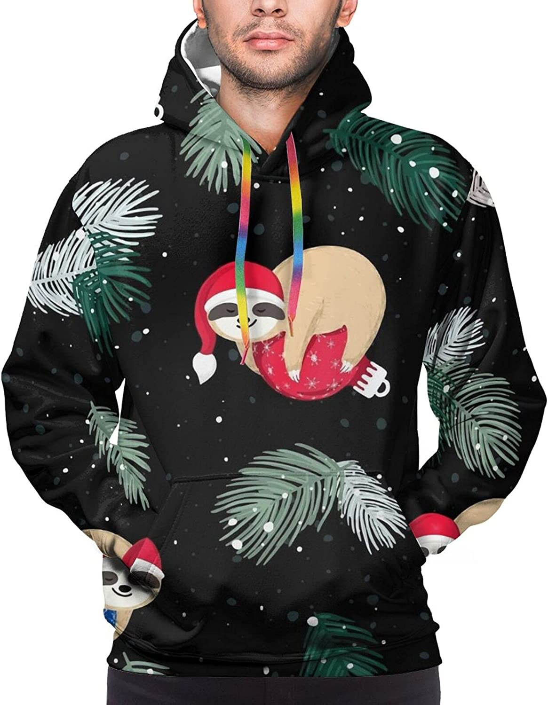 Hoodie For Teens Boys Girls Christmas Sloth Hoodies Pullover Sweatshirt Pockets
