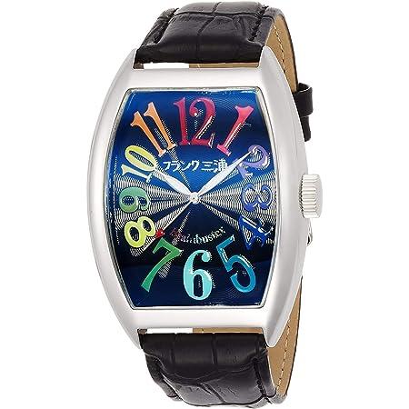 [フランクミウラ] 腕時計 フランク三浦 アナログ 六号機 マグナム 革ベルト レインボー FM06K-CRB メンズ ブラック