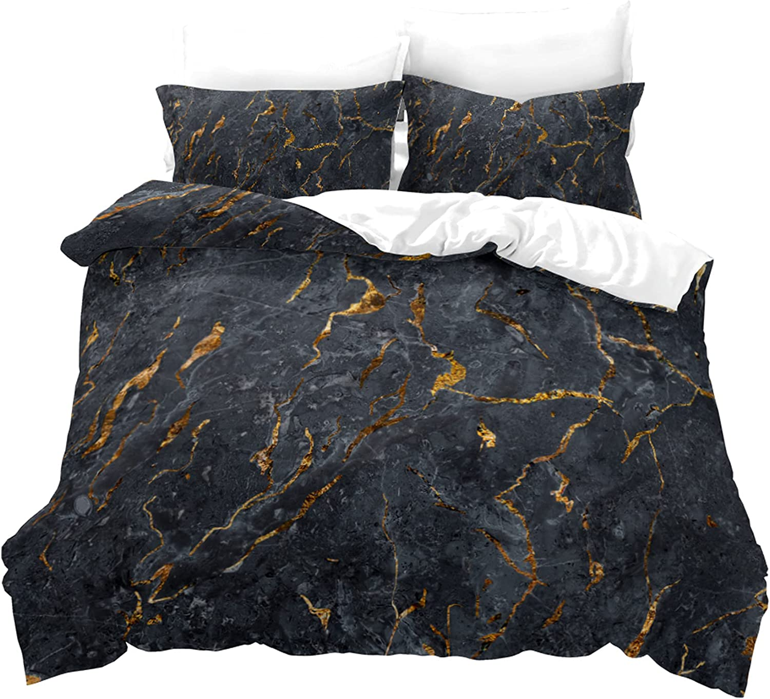 M X Marble Pattern Bedding 3D Two-Piec Three-Piece Product Max 83% OFF Set Printing