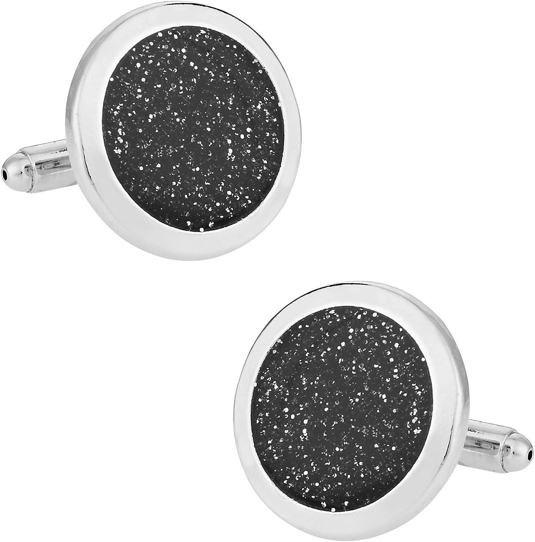 Cuff-Daddy Black Diamond Dust Silver with Links Tampa Mall Cuff P Oklahoma City Mall Cufflinks