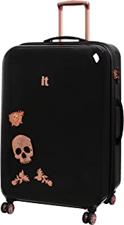 de033aa1c IT Luggage Candy Skull 76cm Expandable Hardshell Four Dual Wheel Spinner Suitcase  Black