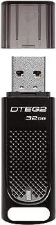 Kingston Digital 32GB DataTraveler Elite G2 Black Metal Casing Fast 180MB/s R, 70MB/W USB 3.1 Flash Drive with LED light indicator (DTEG2/32GB)