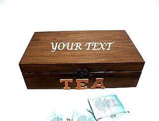 Caja de Té con Divisores, Caja de Paquetes de Té, Hora del Té, Caja de Cocina, Caja Bolsas Té, Amante del Té, Fiesta del T...