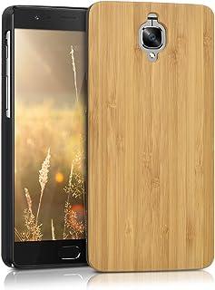 kwmobile OnePlus 3 / 3T 用 ケース - 木製 スマホカバー - ウッド 携帯 保護ケース