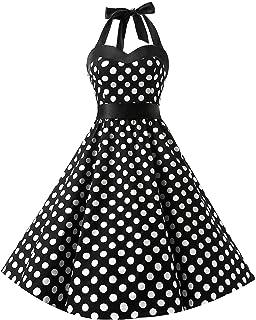 a02786df602 KUONUO vintage rétro 1950 s Audrey Hepburn pin-up robe de soirée cocktail  Rockabilly style halter