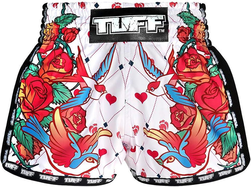 TUFF Sport Retro Muay Thai Boxing Shorts Martial Arts Clothing Training Gym Trunks Classic Slim Cut : Sports & Outdoors
