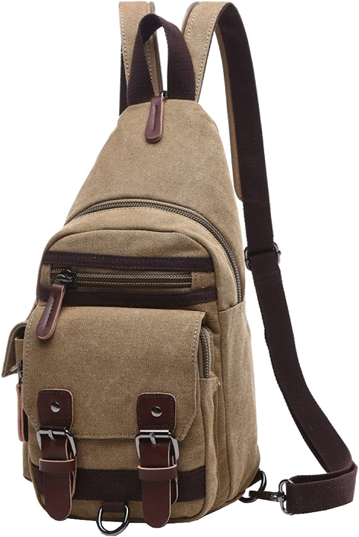 LAIDAYE Doppelte Schulter Doppel Mit Einem Paket Schrgen Cross-Paket Multifunktionale Freizeit Outdoor-Sporttasche Damen Rucksack Leinwand Brusttasche
