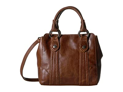 Frye Melissa Mini Tote Crossbody (Cognac) Handbags