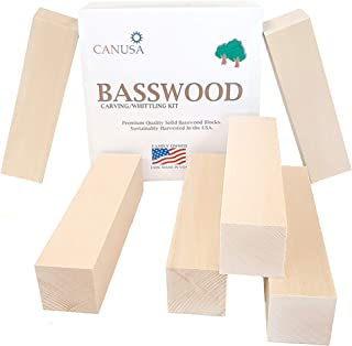 Best Value Basswood Beginners KIT. 1/3 More Wood Than Other Kits! Premium Unfinished Carving/Whittling Wood Blocks for Kid...