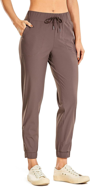 CRZ YOGA Women's Lightweight Joggers Max 79% OFF Louisville-Jefferson County Mall Drawstring Ank Pants Zipper