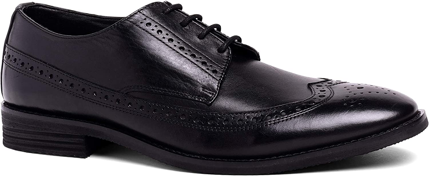 Paolo Bove Mens Wingtip Oxford Florenza Comfort Leather Dress Shoe