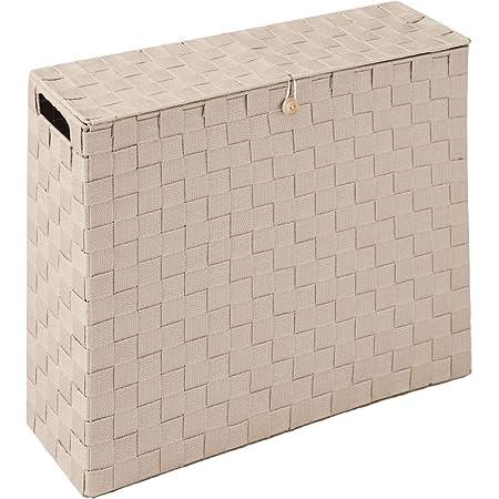 コモライフ 目隠し収納スリムボックス トイレ サニタリーボックス 幅14cm 収納ラック ストッカー トイレットペーパー(12ロール) すき間収納