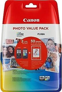 Canon PG-540XL+CL-541XL Cartucho de tinta original BK XL+Tricolor XL para Impresora de Inyeccion de tinta Pixma TS51505051-MX375395435455475515525535-MG21502250315032503550365041504250