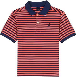 58fe3054bd0ab6 Nautica Boys  Little Short Sleeve Striped Performance Polo Shirt