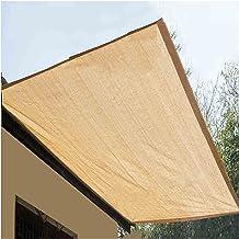 LIXIONG Sunblock schaduwdoek, crème kleur anti-UV polyethyleen metalen oogje anti-aging voor venster balkon terras strand,...