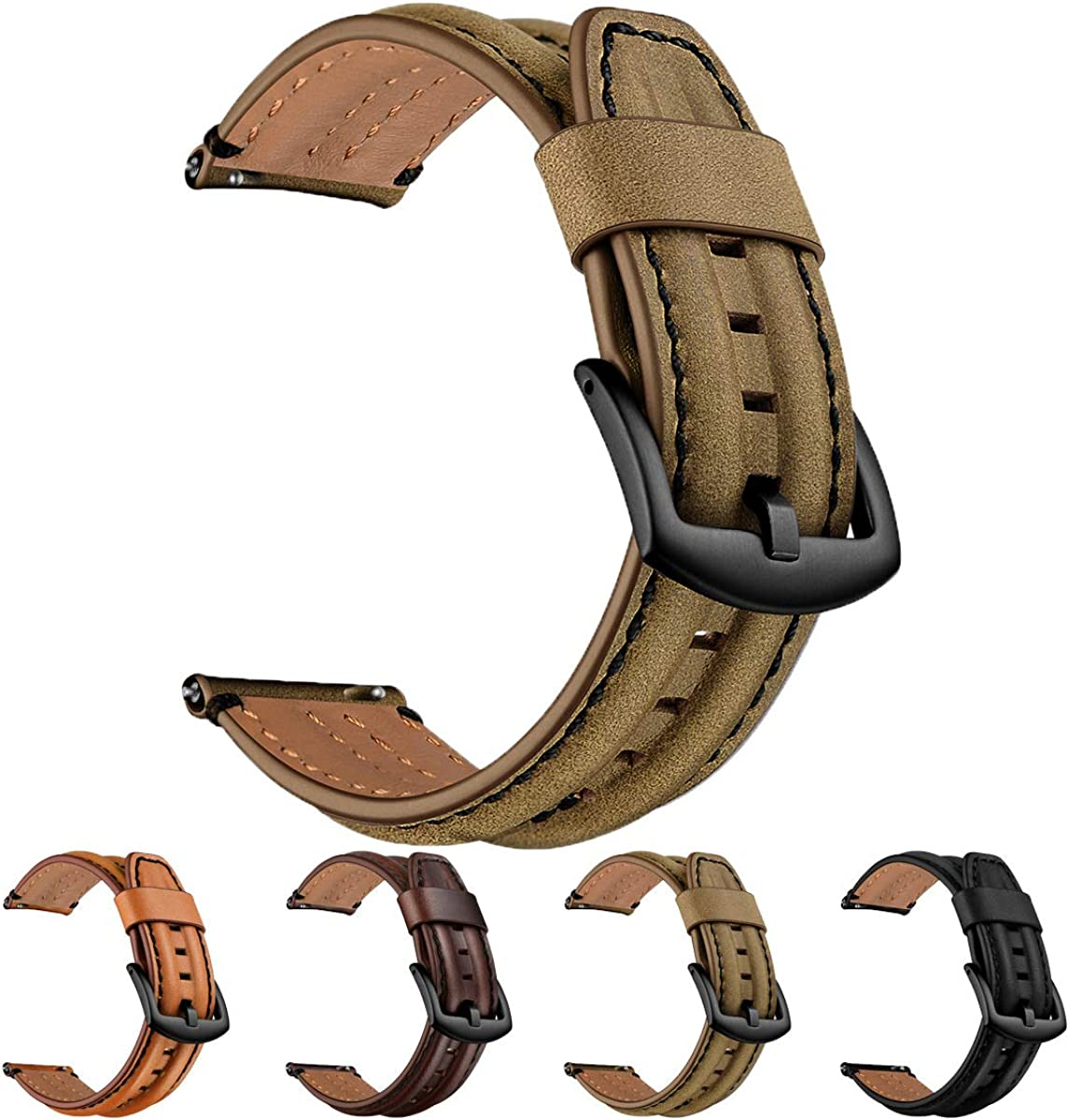 SEURE List price Leather Watch Special Campaign Band Compatible Samsung Gear Q 22mm 20mm S3