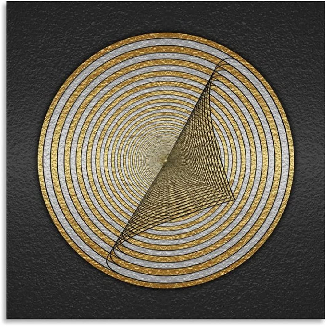 Abstract Gold Foil Attention brand Geometric Poster Bargain Decorative Pattern Circular
