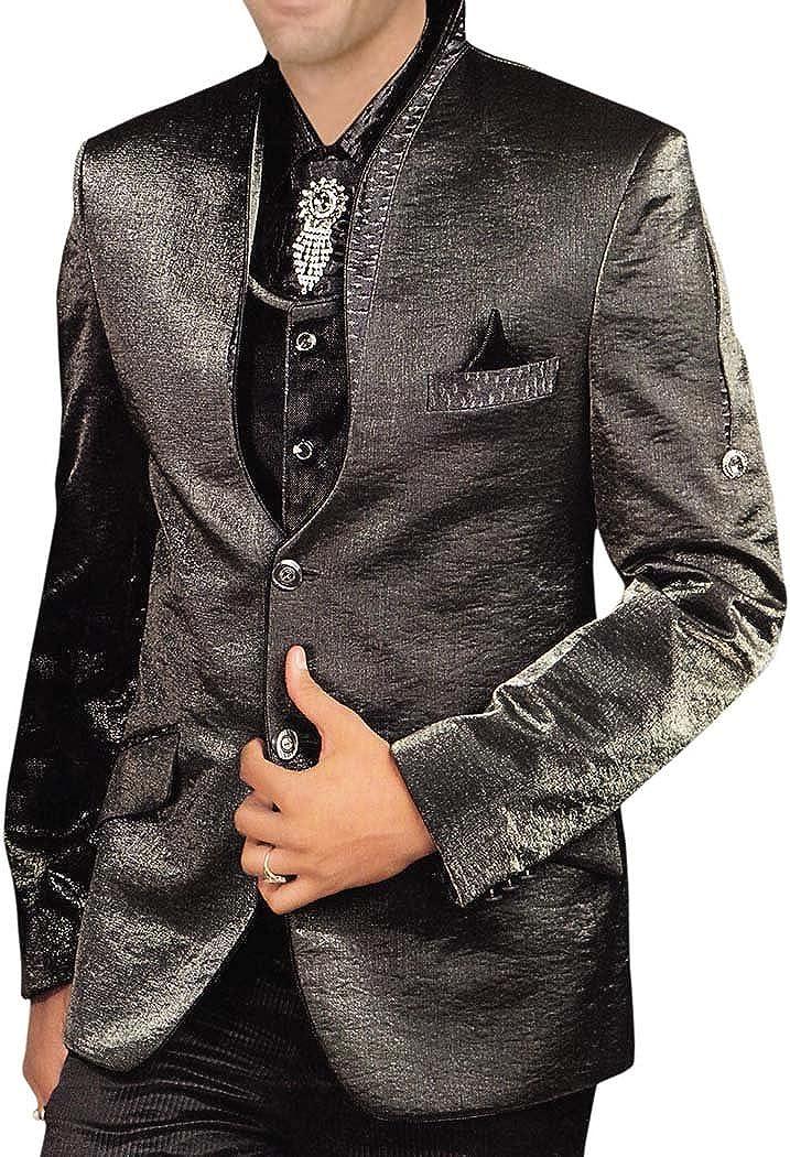 INMONARCH Mens Gray 5 Pc Tuxedo Suit Party Wear TX0154