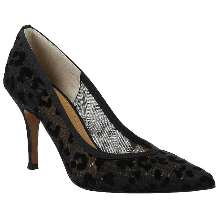 J. Renee Elisenda (Gold/Black Animal) Women's Shoes