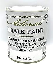 Adoral - Pintura Chalk Paint Pintura A La Tiza Decoración Muebles (Blanco Tiza) 750 ml