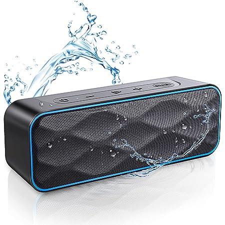 Bluetooth スピーカー ワイヤレススピーカー IPX7防水 風呂 高音質 ステレオ ブルートゥーススピーカー ポータブルスピーカー 20W高出力 36時間連続再生 スマホ用 iPhone & Android対応 内蔵マイク TWS機能で二台接続可能 (ブラック) ZoeeTree