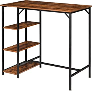 "YMYNY Industrial Bar Table, 43"" Rectangular Pub Dining..."
