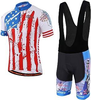 42f5c15a07f02 MILOTO Men s Cycling Jersey Black Bib Shorts Set Quick Dry Riding Kits