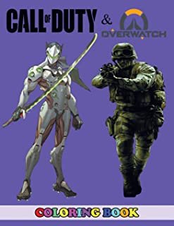 Call of Duty and Overwatch Coloring Book: 2 in 1 Coloring Book for Kids and Adults, Activity Book, Great Starter Book for Children with Fun, Easy, and Relaxing Coloring Pages